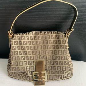 Fendi Zucca Mama Baguette Shoulder Bag